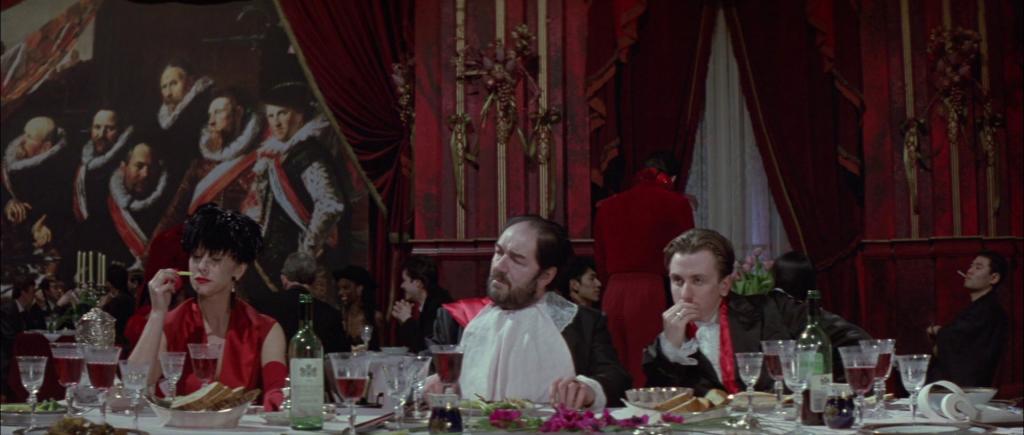 """Peter Greenaway, """"Il cuoco, il ladro, sua moglie e l'amante"""", 1989Credits: The Cook, the Thief, His Wife and Her Lover"""" © Allarts e altri 1989"""