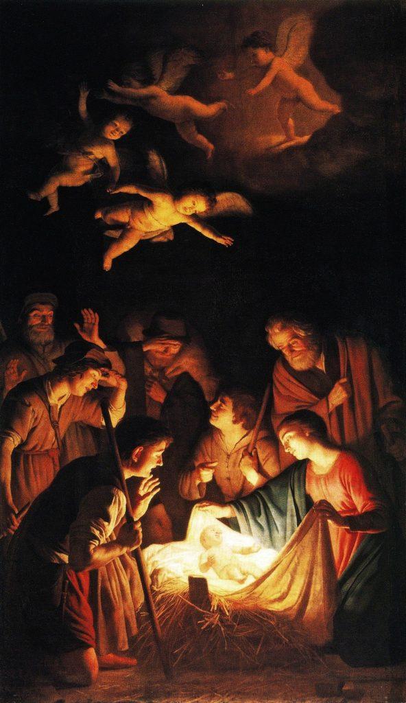 Gerrit van Honthorst Adorazione dei Pastori The Young Pope