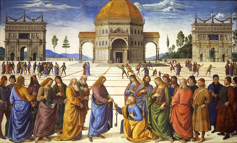 Perugino Consegna delle chiavi The Young Pope
