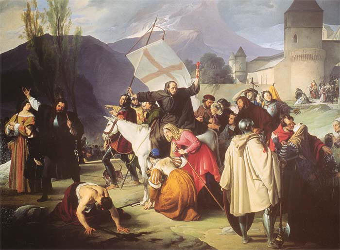 Francesco Hayez Pietro l'eremita The Young Pope